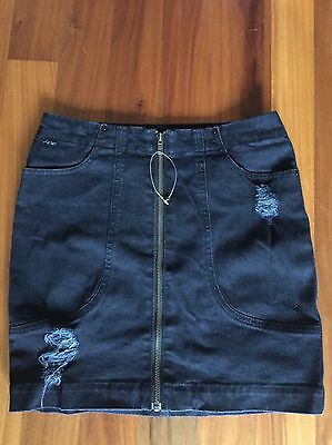 RIDERS Black Denim Pencil Skirt - Size 10 New W/out Tags