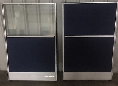 16 X Office Partitions 8 Glass And 8 X Solid
