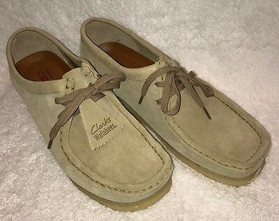 NEW! Mens Clarks Originals Wallabees Maple/Beige Suede Oxford Shoes Size 10.5