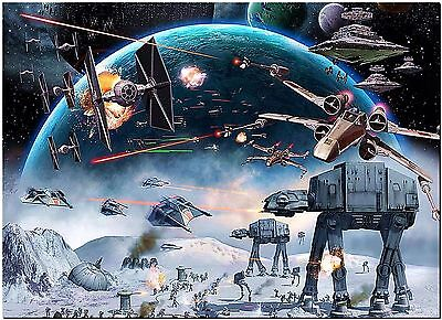 Star AT-AT Battlefront Wars High Quality Canvas Print Poster 18X12""