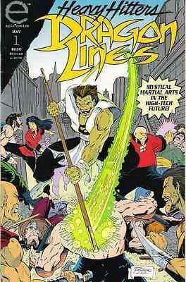 Dragon Lines #1 in Near Mint + condition. FREE bag/board