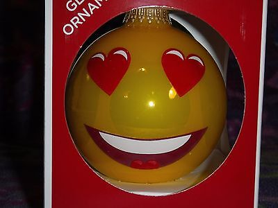 Emoji Hugs and Kisses Collectible Glass Ornaments Home & Kitchen