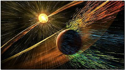 Stunning Space Solar flares on Mars High Quality Canvas Print Poster 18X12""
