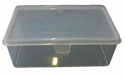 20 X 1LT Plastic Storage Hinged Container Strong Tub Bin Lunch Box Boxes 1L Crat