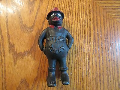 """Cast Iron - Black Americana – """"Give Me A Penny"""" bank - African American Male"""