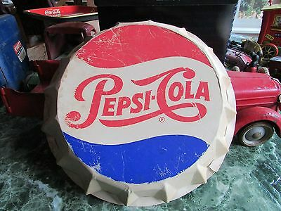 "Large paper ""PEPSI COLA BOTTLE CAP"" - Wall Hanging - approx 12"" diameter"