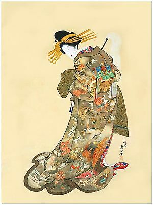 The Hell Courtesan by Youshuu Chikanobu  - Canvas Print Poster 18X12""