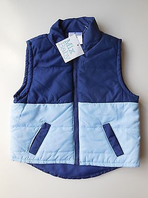 Baby Boy Warm Puffer Vest Sleeveless Jacket Size 000 Fits 0-3M *new