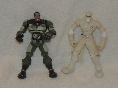 2 G I Joe Battlers Storm Shadow & Wallace Ripcord Weems Loose Action Figures