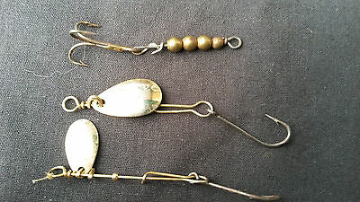 Vintage LOT OF 3 BRASS  Spinner Fishing Lure