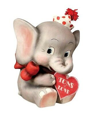 Bethany Lowe Valentines Day Tons of Love Ellie Elephant Figure