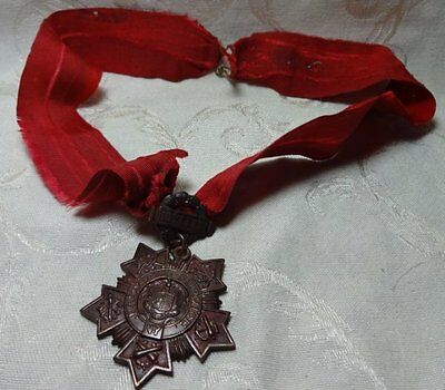 Spanish American War SAW New York National Guard 10 Year #d Medal by Tiffany