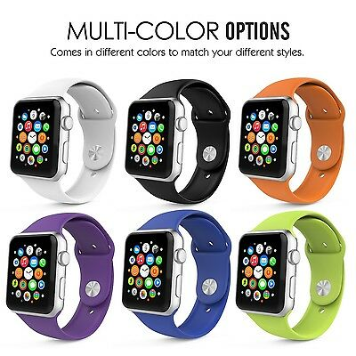 SUPER COLOR 6PK Large Wristband Band Bracelet Strap For iWatch 42MM APPLE WATCH
