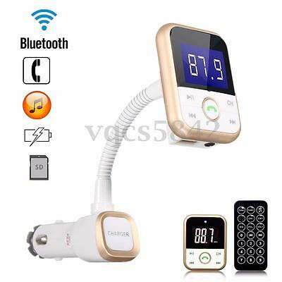 Wireless Car Kit Bluetooth LCD FM Transmitter Modulator MP3 SD USB AUX + Remote