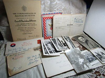 WWII Army Fort Knox Letters, Stamps, Artillery Photos Lot Of 18