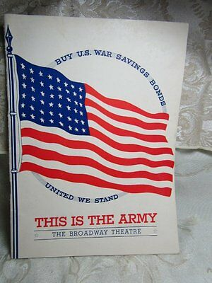 WWII 1942 This Is The Army Broadway Theatre Play Book GREAT SHAPE