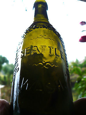RARE Western  Green applied top SEATTLE MALTING & BREWING CO. SEATTLE  WASH