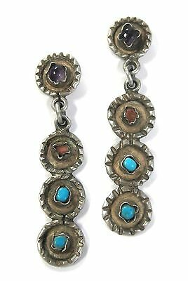 EXQUISITE, Vintage / Antique Taxco Sterling .925 Multi-stone Earrings