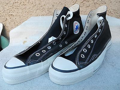 Vtg Converse High Top All Star Chuck Taylor Black size 12 Deadstock Made in USA