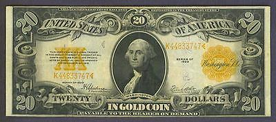 """1922 $20 """"beautiful"""" Gold Seal Historic Gold Coin Certificate!"""