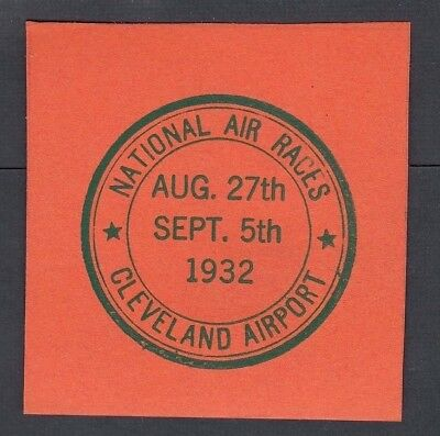 Usa 1932 National Air Races Cleveland Ohio Three Different Labels