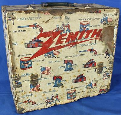 "Vintage Zenith Tube Television TV Repair Tool-Box Caddy 17"" x 16"" x 8"""