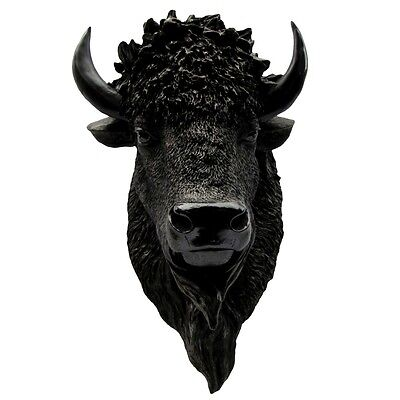 North American Wild Bison Head/Resin Buffalo Mount/Man Cave Fake Taxidermy Bust