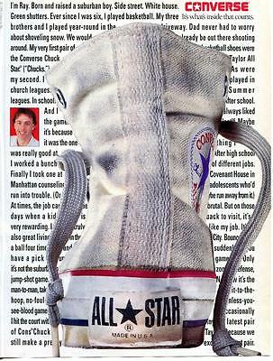 """Vintage Print Ad For Converse All Star Made In U.s.a. Converse (""""chucks"""") Shoe"""