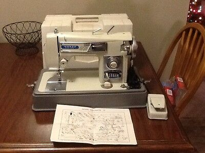 Tested Morse 4300 Fotomatic-III Zig Zag Twin Needle Buttonhole Sewing Machine