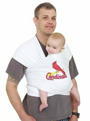 Moby Wrap MLB Edition Baby Carrier, St. Louis Cardinals, White - NEW -
