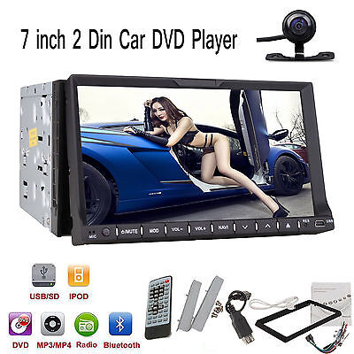 """7""""2Din Touch Screen Car Stereo CD DVD Player Radio with SD/USB/Bluetooth/Ipod"""