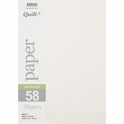 Quill Parchment 90gsm A4 Paper Natural 25 Pack