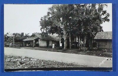 Vintage Real Photo Postcard Houses in Santa Ines Mexico