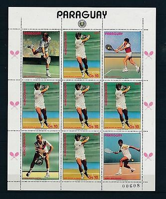 104.paraguay Stamp On Lawn Tennis . Mnh