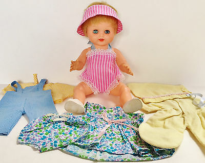 "Vintage 1960s Kellogg's cereal premium 12"" Baby Chris Doll original outfits"