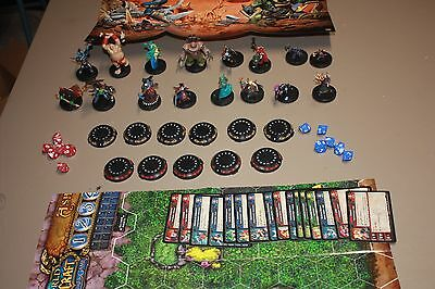 World of Warcraft Miniature Game Figures and Cards Lot of 16 plus extras picture
