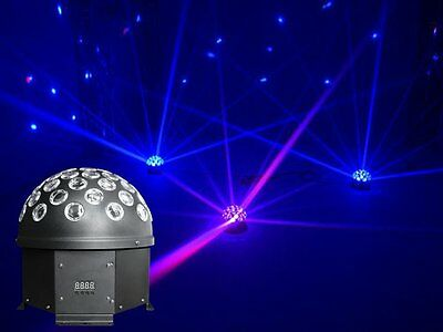 Light Emotion Rotating LED DMX Half Ball - 5 x 3W RGBWA LED mirror ball Disco DJ