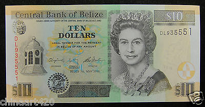 BELIZE Paper Money 10 Dollars 2016 UNC