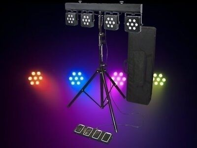 Light Emotion LED Par Bar 28 3W 3-in-1 RGB Gig Bar DJ Stage light foot control
