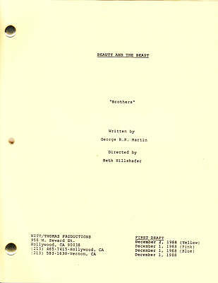 "BEAUTY AND THE BEAST show script ""Brothers"""