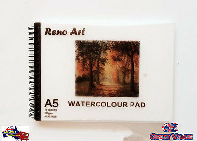 Watercolor Pad A5 15 Sheets 280 gsm ACID FREE | Suitable for pencil and charcoal