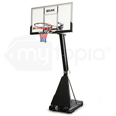 Portable Adjustable Basketball Stand System Slam Height Hoop Net Ring