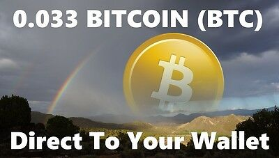0.033 Bitcoin (BTC) - Mined Bitcoin Direct To Your Wallet - By CryptoCoinShop