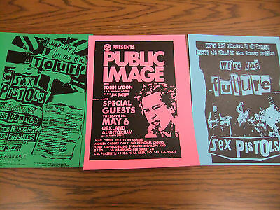 The Sex Pistols Repo Concert Flyer Lot PIL Johnny Rotten Sid Vicious The Clash