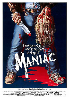 Maniac (1980) - A1/A2 POSTER **BUY ANY 2 AND GET 1 FREE OFFER**