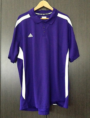 Adidas Climalite Size 2Xl Polo Shirt Purple And White As New