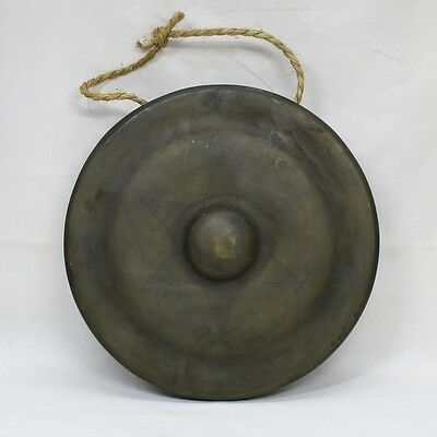 E990: Japanese old copper gong DORA for Buddhism temple or the tea ceremony room