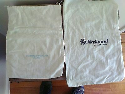 NAB AND CBA COIN Money Bags
