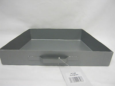 "New Manor Tapered Grey Steel Ashpan For 16"" Coal Fires Ash Pan 0748"