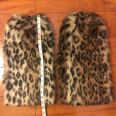 Leopard Furry Rave Leg Warmers